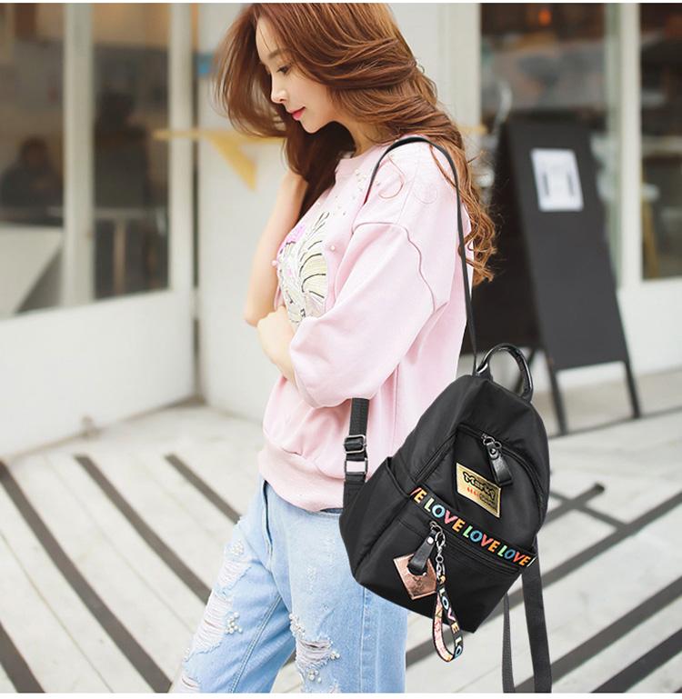 Women Waterproof Casual Backpack Middle School Designer Bookbag Teenager  Love Print Stripe Backpacks Female Bolsa Travel Bags. Text. Text dc84914a1a