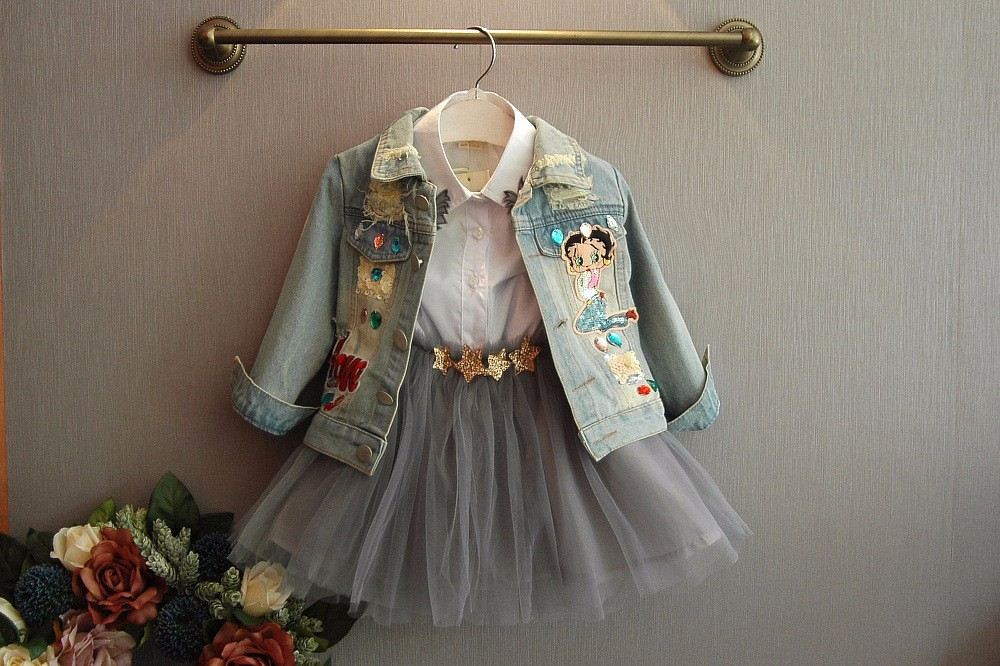 3477d46b8b Mareya Trade - Sunshine Rainy Spring Baby Girls Denim Jackets ...