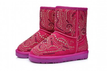 1c1f3d967a7 adoudou Size 23-38 Fashion Kids Girls Boots Genuine Leather Children Girls  Winter Boots Toddler Crystal Baby Winter Shoes