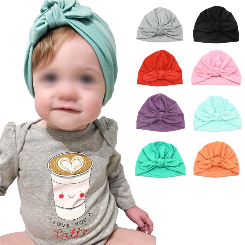 New Fashion Spring Autumn Cotton Bohemia Style Baby Hat For Newborn Girls Boys
