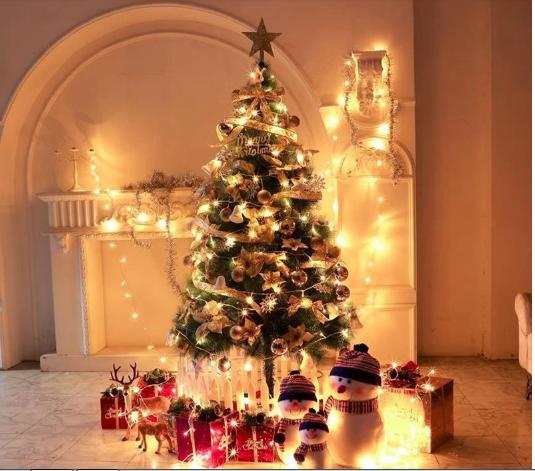Mareya Trade Led Pentagram Light Kitchen Cabinet Garland 220v Eu Plug Fairy Led String Lamp For Holiday Christmas Decoration Home Wedding Lighting